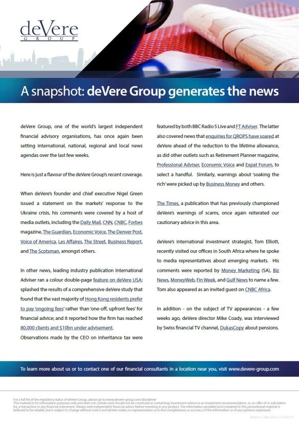 deVere Generates the News