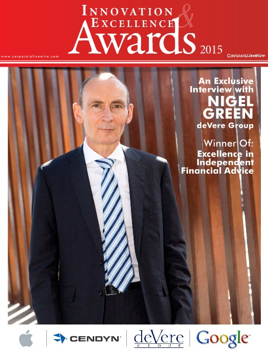 NIgel Green deVere Group CEO on the cover of Corporate Livewire